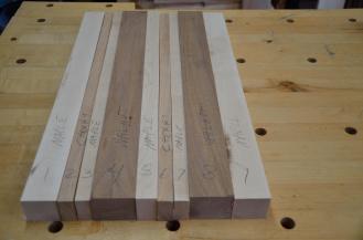 Next cutting board was hard maple, cherry and walnut.