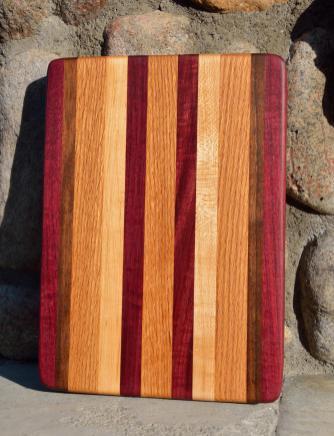 #27: Purpleheart, Walnut, Red Oak, Hard Maple.