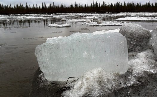 """""""Candle ice"""" floats down the Koyukuk River during the spring thaw. From the Park's website."""