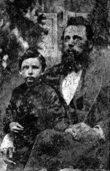Alban Boring (1840 - 1915) holding Norman Ernest Boring (1873-1953). My father's mother was a Boring. Alban is my Great Great Grandfather, and Norman Ernest is my Great Grandfather.