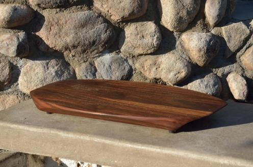 Cheese & Cracker server # 92, The Surfboard. Black Walnut.