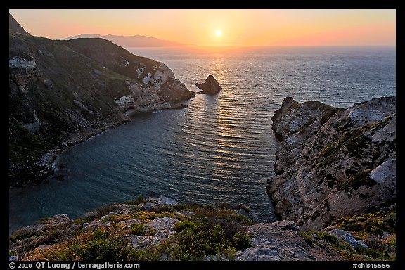 Potato Harbor cove at sunset, Santa Cruz Island. Photo courtesy of Terra Galleria. www.terragalleria.com.