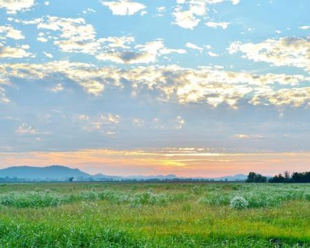 A pastel sunset at the Clarence Cannon National Wildlife Refuge. Posted on Tumblr by the US Department of the Interior, 8/17/14.