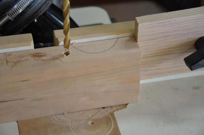 Each side piece gets drilled through in 4 places.