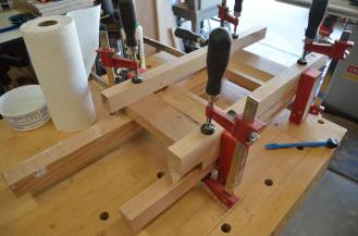 The glue up of the server has to be done with pressure from 4 directions at once.