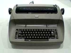 IBM Selectric. Note that there is no manual return ... you just press a button to start a new line of typing! SUCH an innovation.