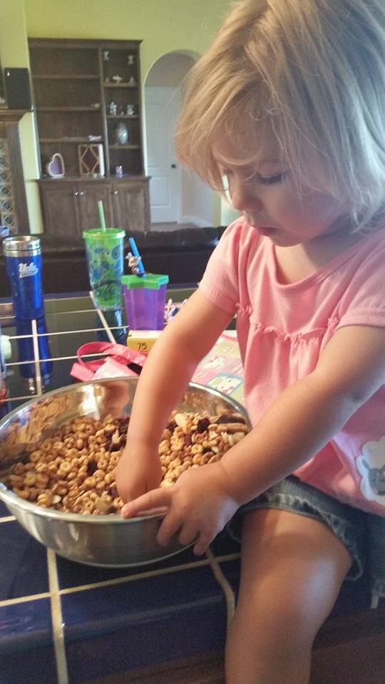 Kitchen help should include Grandchildren whenever possible: it's the VMICA way. (that's the Velda Mowry Institute of Culinary Arts, FYI)