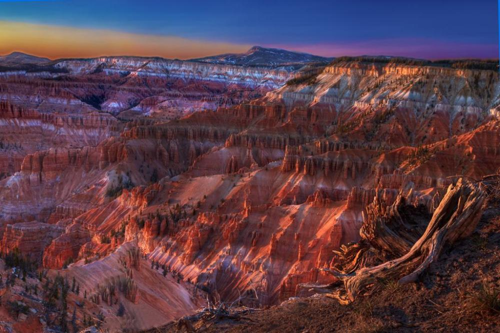 Utah's Cedar Breaks National Monument at sunset. Photo by Jay Wanta. Tweeted by the US Department of the Interior, 11/21/14.
