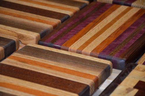 When the boards are oiled, their beauty begins to show.