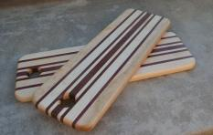 "Bread Board 15 - 07. Hard Maple and Purpleheart. 5"" x 15"" x 3/4""."