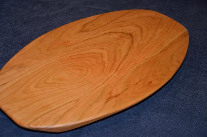 "Surfboard # 15 - 01. American Cherry. 12"" x 19"" x 1-3/8""."