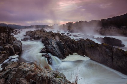 Great Falls Park in Virginia has many opportunities to explore history and nature, all in a beautiful 800-acre park only 15 miles from the Nation's Capital. Explore one of the nation's first canals, see the Great Falls of the Potomac River or enjoy a hike along Mather Gorge's dramatic clifftops. Pictured here is an early morning view of the stunning waterfalls. Photo by Michael Leung, Posted on Tumblr by the US Department of the Interior, 3/16/15.