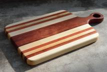 "Sous Chef # 15 - 07. Hard Maple & Jarrah. 9"" x 15"" x 1""."