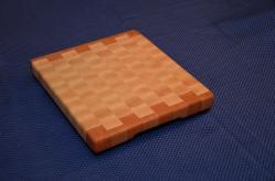 "Cutting Board # 15 - 031. Cherry and Hard Maple. 12"" x 12"" x 1-1/4""."