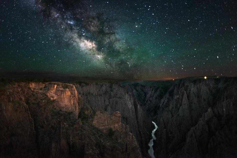 Colorado's Black Canyon of the Gunnison below the Milky Way. Picture by Greg Owen. Posted on Tumblr by the US Department of the Interior, 6/14/15.