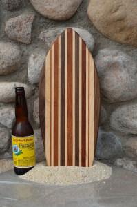 Small Surfboard # 15 - 01. Black Walnut, Hard Maple & Cherry.