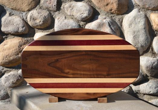 Surfboard 15 - 13. Black Walnut, Hard Maple & Purpleheart.