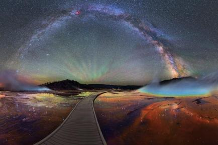 16 individual 15-second exposures were stitched together to make this extraordinary panoramic photograph. Photo by David Lane. Tweeted by the US Department of the Interior, 7/9/15.
