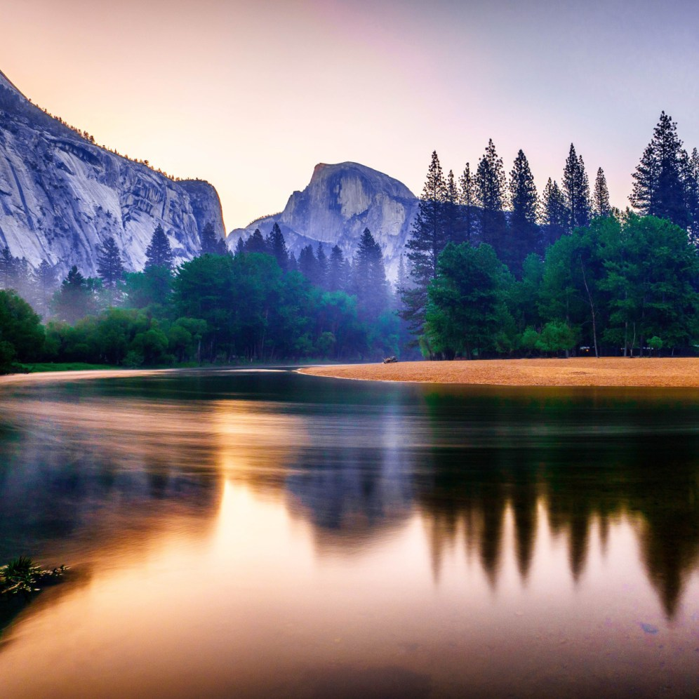 It's hard to beat mornings at Yosemite National Park in California. Sunrise photo of Half Dome courtesy of Jonathan Basiago. Posted on Tumblr by the US Department of the Interior, 8/4/15.