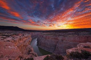 Sunrise over the Bighorn Canyon National Recreation Area. Picture by Phil Seu. Tweeted by the US Department of the Interior, 8/24/15.