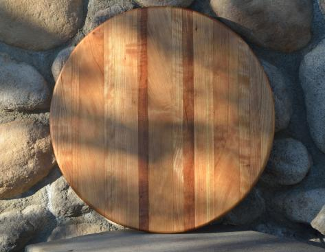 "Lazy Susan 15 - 014. Cherry ... in many colors. 17"" diameter."