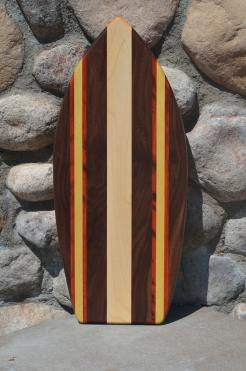 Medium Surfboard 15 - 04. Black Walnut, Padauk, Yellowheart & Hard Maple.
