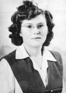 Letha Shull, Senior Picture, 1947 Horace Mann High School, Maryville, MO