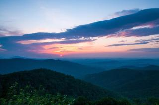 Sunrise over Virginia's Shenandoah National Park. Photo by Sharon Eisenzopf. Tweeted by the US Department of the Interior, 8/26/15.