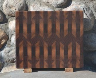 """Small Board # 15 - 048. Black Walnut. End Grain. 11"""" x 13"""" x 1""""."""