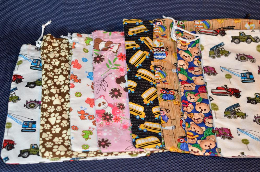 Here are the different bag options. Limited quantities of each, so please give me at least 2x choices for your set.