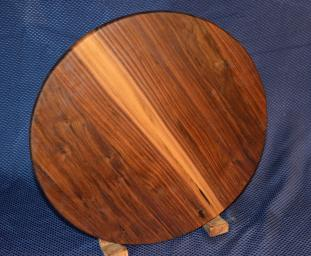"Lazy Susan # 15 - 035. Black Walnut. 17"" diameter x 3/4""."