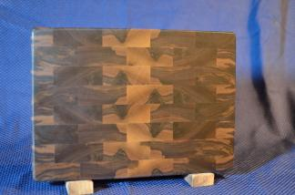 "Small Board # 15 - 059. Black Walnut. End Grain. 10"" x 12"" x 1-1/4""."