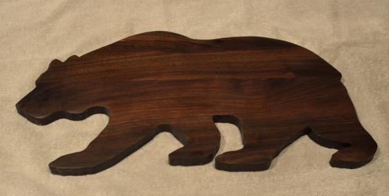 "Bear # 15 - 04. Black Walnut. Edge Grain. 10"" x 20"" x 3/4""."