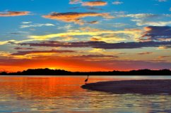 """A spectacular Florida sunset over the J.N. """"Ding"""" Darling National Wildlife Refuge. Photo by Al Hoffacker. Posted on Tumblr by the US Department of the Interior, 12/18/15."""