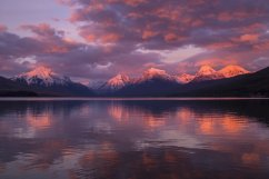 Sunset over Lake McDonald in Montana's Glacier National Park. Tweeted by the US Department of the Inteiror, 12/15/15.