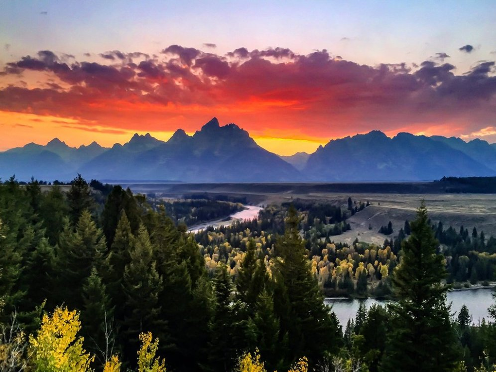 Grand Teton National Park. Tweeted by the US Department of the Interior, 12/11/15.