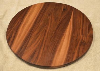 "Lazy Susan # 15 - 046. Black Walnut. 17"" diameter x 3/4""."