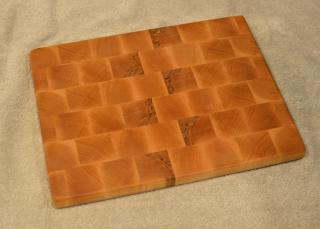 "Small Board # 15 - 060. Hard Maple. End Grain. 10"" x 14"" x 1""."
