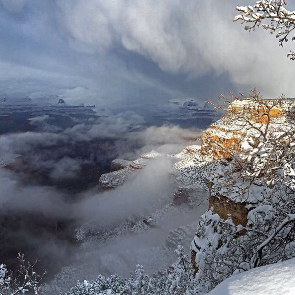 Grand Canyon National Park. Tweeted by the US Department of the Interior, 1/9/16.