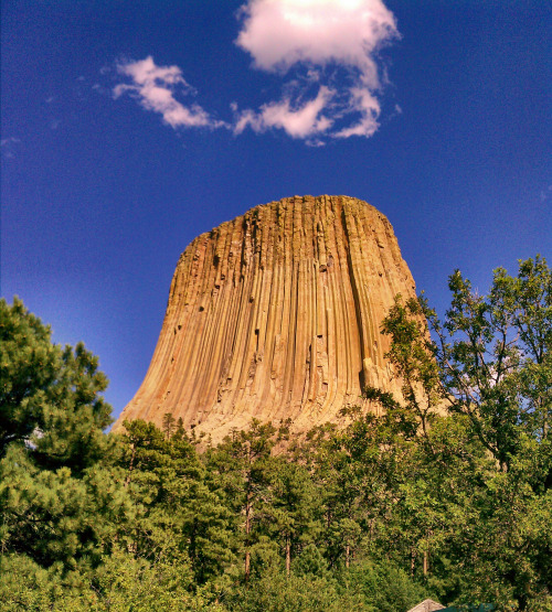 Wyoming's Devil's Tower National Monument. Photo by Gary Stone. Posted on Tumblr by the US Department of the Interior, 2/1/16.