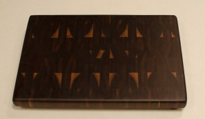 "Small Board 16 - 007. Black Walnut. End Grain. 9"" x 13"" x 15/16""."