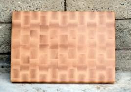 "Cutting Board 16 - End 017. Hard Maple. End grain. 13"" x 18"" x 1-1/4""."