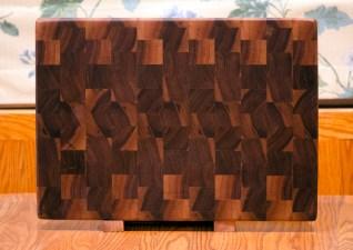 """Cutting Board 16 - End 019. Black Walnut. End grain. 14"""" x 20"""" x 1-1/2""""."""