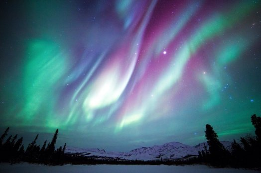 Aurora Borealis above Denali National Park. Posted on Tumblr by the US Department of the Interior, 2/23/16.