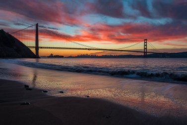 Sunrise from California's Golden Gate National Recreation Area at Kirby Cove. Photo by Aron Cooperman. Tweeeted by the US Department of the Interior, 2/22/16.