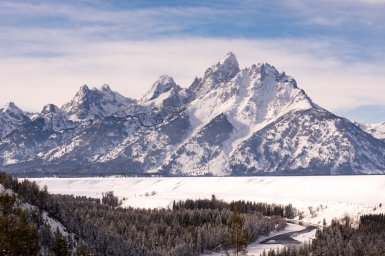Grand Teton National Park in the snow. Photo by Michelle Olmstead. Tweeted by the US Department of the Interior, 3/8/16.
