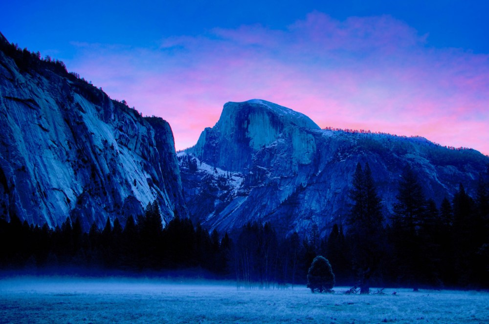 Mist rises from Ahwahnee Meadow on a cold winter morning in Yosemite National Park, creating a dreamy blue scene. While Half Dome wears a light dusting of snow, other areas of the park received more than 200 inches – or almost 17 feet – so far this winter! There's still time to enjoy snow-dusted views and winter activities before warm weather arrives. Photo courtesy of Douglas Croft. Posted on Tumblr by the US Department of the Interior, 2/11/16.