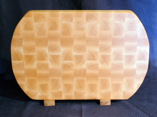 "Cutting Board 16 - End 029. End Grain. 2-sided. Hard Maple. 13"" x 18"" x 1-1/2""."
