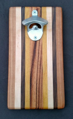 Magic Bottle Opener 16 - 021. Cherry, Hard Maple, Black Walnut, Teak & Goncalo Alves.
