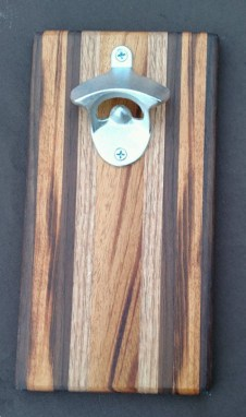 Magic Bottle Opener 16 - 023. Black Walnut, Goncalo Alves & Red Oak.